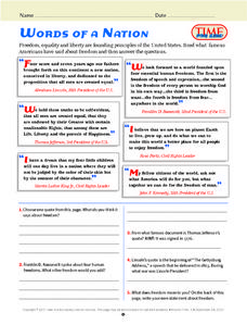 Words of a Nation Lesson Plan