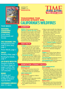 Time For Kids:  Wildfires and Egypt Lesson Plan