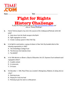 Fight for Rights History Challenge Lesson Plan