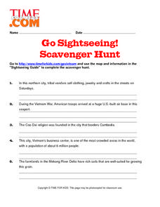 Time for Kids Scavenger Hunt: Vietnam Lesson Plan