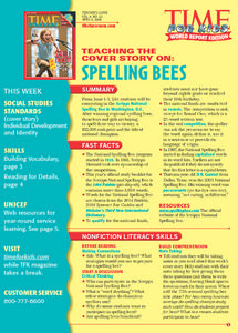 Time For Kids:  Spelling Bees and Detail Search Lesson Plan