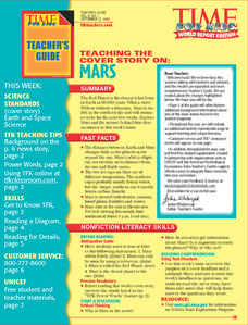 Time For Kids:  Organizing Information, Reading a Diagram, Reading for Details Lesson Plan