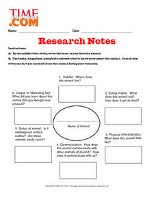 Research Notes Lesson Plan