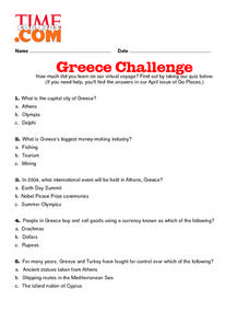 Greece Challenge Lesson Plan