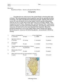 Geography: Illinois Worksheet