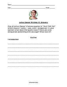 julius caesar writing response essay on bravery th th grade  julius caesar writing response essay on bravery worksheet