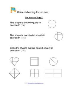 Understanding ¼ Worksheet