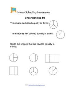 Understanding 1/3 Worksheet