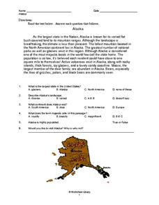 Alaska Worksheet