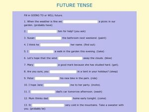 Future Tense (4) Worksheet