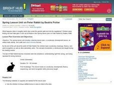 Spring Lesson Unit on Peter Rabbit by Beatrix Potter Lesson Plan