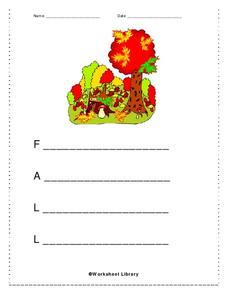 Fall Acrostic Poem Worksheet