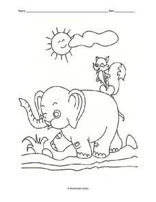 Animal Coloring Sheet Worksheet