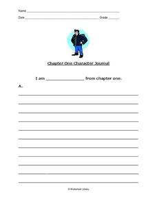 Journal Entry: The Outsiders Chapter 1 Worksheet