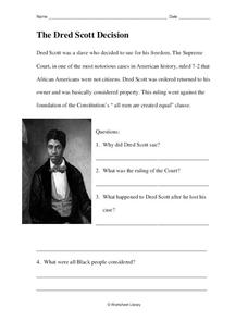 the dred scott decision worksheet for 4th 5th grade lesson planet. Black Bedroom Furniture Sets. Home Design Ideas