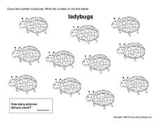 Counting Ladybugs Worksheet