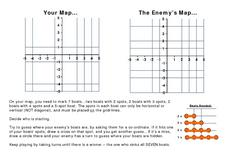 Play Battleship with Coordinates on a Grid Worksheet