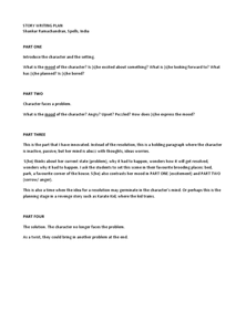 Story Writing Plan Worksheet