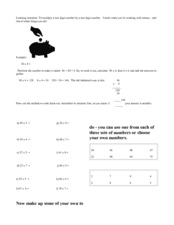 Multiplication Partitioning Worksheet