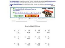 Double Digit Addition Practice Worksheet
