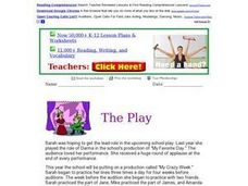 "Reading Comprehension: ""The Play"" Worksheet"