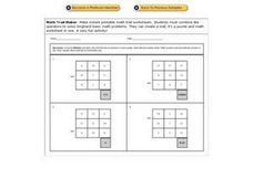 Math Trails: Division Worksheet