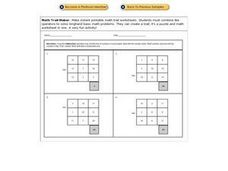 Math Trails - Subtraction Worksheet