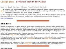 Orange Juice - From the Tree to the Glass Lesson Plan