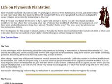 Life on Plymouth Plantation Lesson Plan