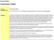 Lonesome Linda Lesson Plan