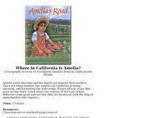 Where in California is Amelia? Lesson Plan
