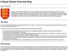A Royal Charter From the King Lesson Plan
