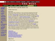 The Nez Perce and the Dawes Act Lesson Plan
