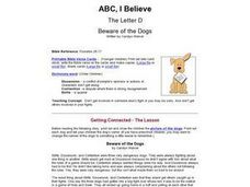 ABC, I Believe - Beware of the Dogs Lesson Plan