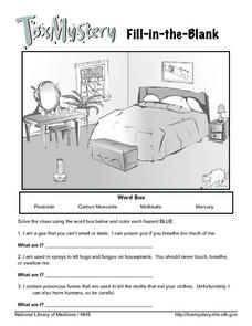Tox Mystery - Hazardous Materials Worksheet