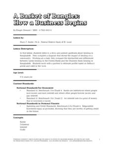 A Basket of Bangles: How a Business Begins Lesson Plan