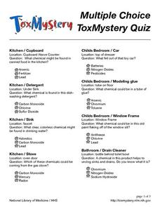 Tox Mystery Quiz Worksheet