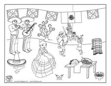 Cinco De Mayo Coloring Page Worksheet