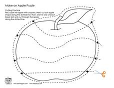 Make an Apple Puzzle Worksheet