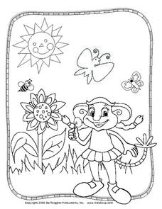 Spring Coloring Picture Worksheet