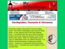 Earthquakes, Tsunamis & Volcanoes (Online Interactive) Worksheet