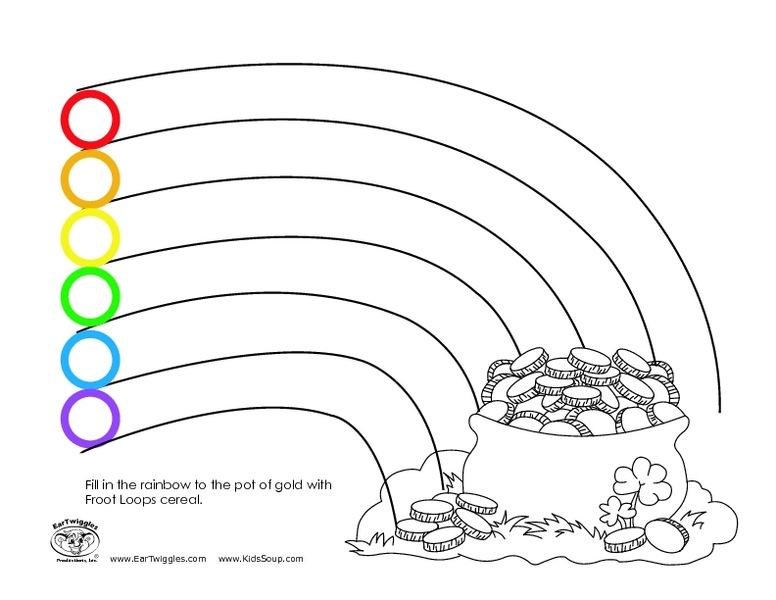 Fill in the Rainbow With Froot Loops Worksheet for