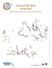Connect the Dots to Horton! Worksheet