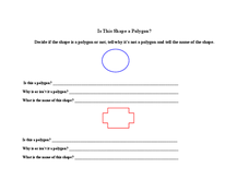 Is This Shape a Polygon? Lesson Plan