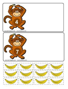 Count the Bananas Worksheet