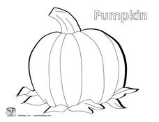Pumpkin Coloring Sheet Worksheet