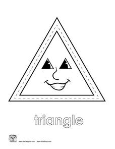 Triangle Coloring Sheet Worksheet
