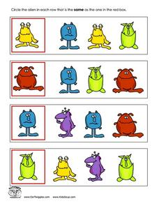 Which Alien Is the Same? Worksheet