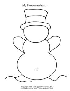 My Snowman Has... Worksheet