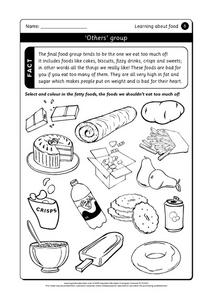Learning About Food Worksheet